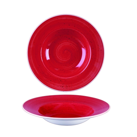 6122290615 Stonecast Berry Red diep bord met brede rand Ø24 cm