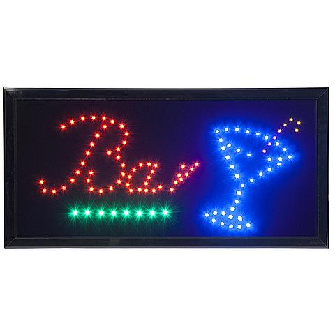 6122264625 Securit® LED 'BAR' sign rood & blauw flikkerend licht 220v AC adaptor +130cm kabel