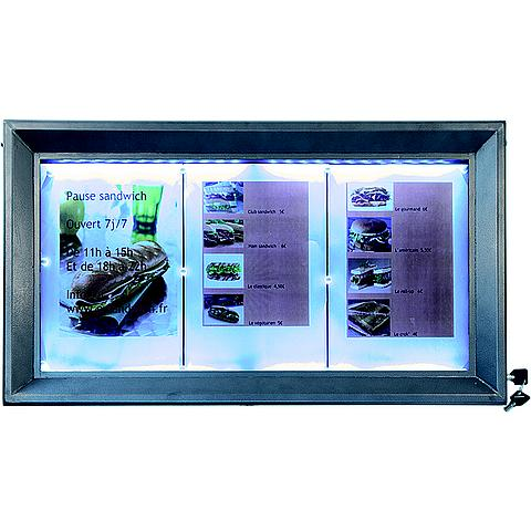 6122264634 Securit® LED Informatie display 3XA4 grijs