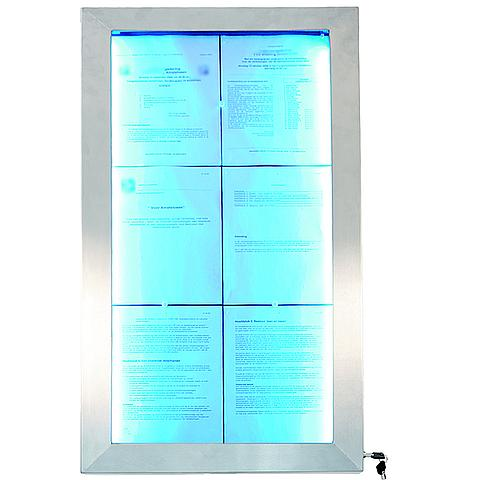 6122264630 Securit® LED Informatie display 6XA4 gekleurde LEDS RVS, incl. afstandsbediening