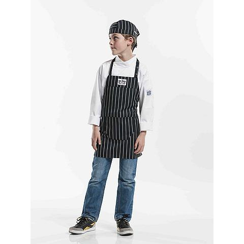 6122225541 Chaud Devant Schort Kids Big Stripe W50 - L55 Zwart/wit