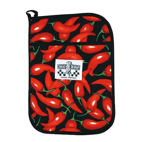 6122225710 Chaud Devant Keuken textiel pannenlap Chili Pepper one size Chili Pepper
