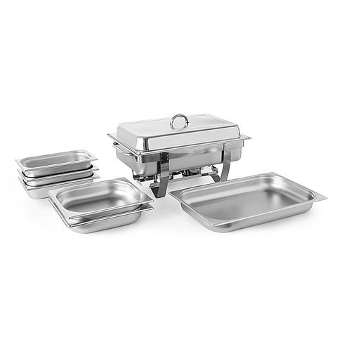 6122213044 Chafing Dish set 471005 Fiora + 2x GN 1/2 65 + 3x GN 1/3 65